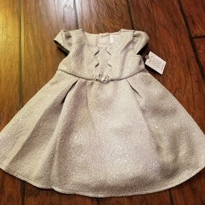 Carter's silver party dress